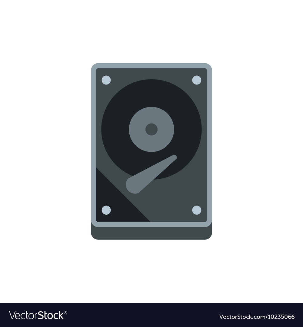 CD rom icon flat style