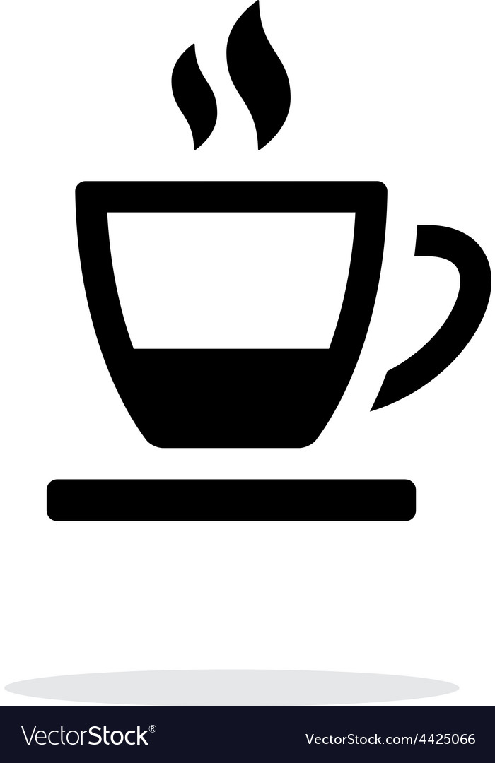 Ending tea cup icon on white background