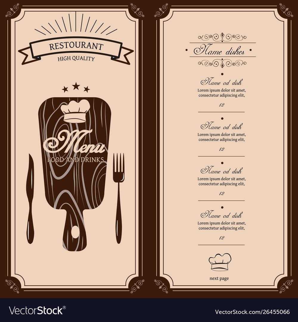 Restaurant menu template menu brochure