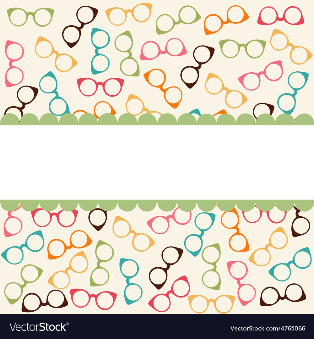 Seamless colorful pattern with glasses