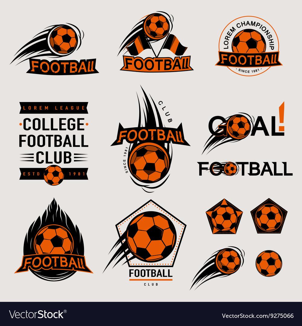 Set of color vintage modern and retro logo badges
