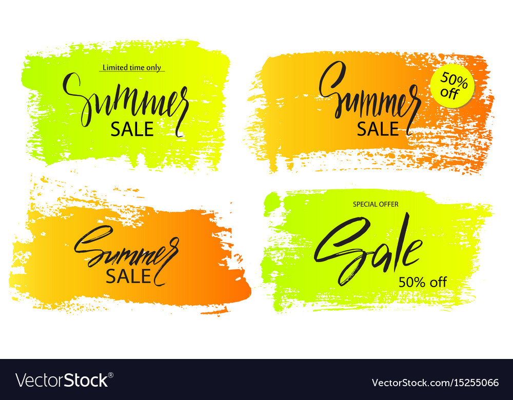 27daabe0df Set of colorful summer sale banners frames boxes Vector Image