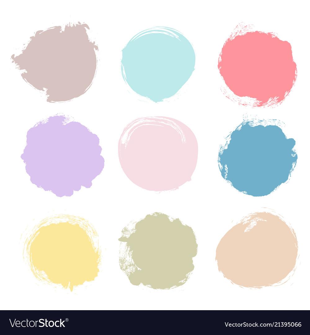 Set of multicolor grunge circles