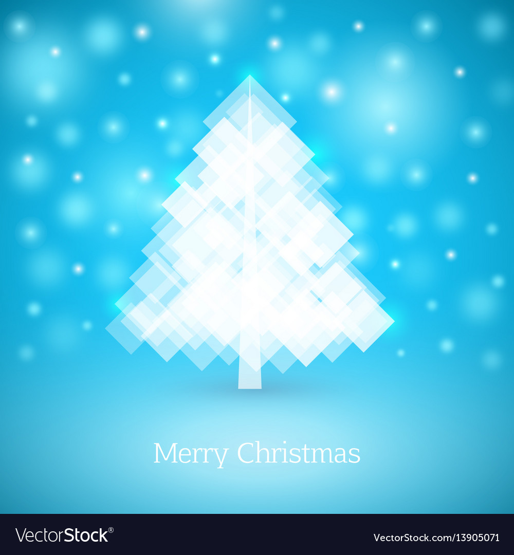 Abstract christmas tree made of white squares
