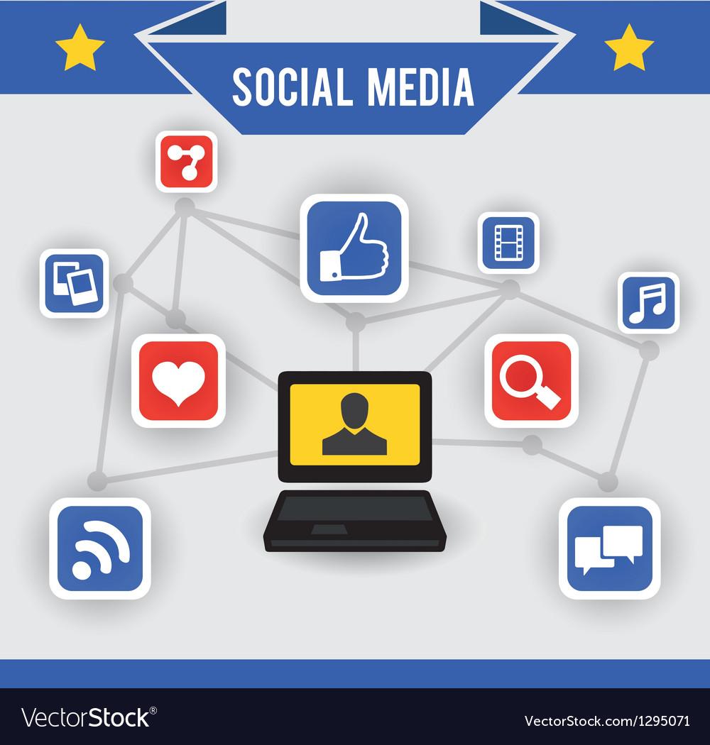 Abstract concept of social media
