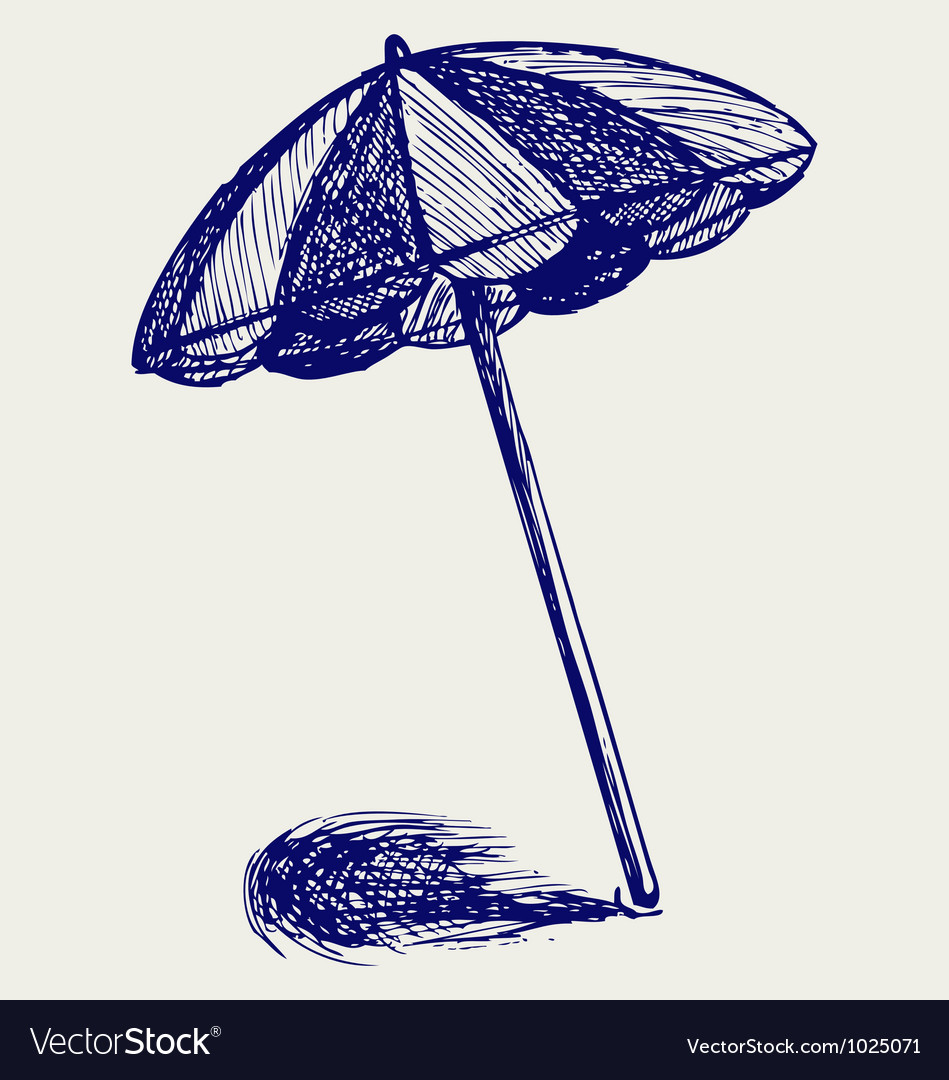 Image of: Beach Umbrella In Beach Umbrella Vector Image Royalty Free Vector Image Vectorstock