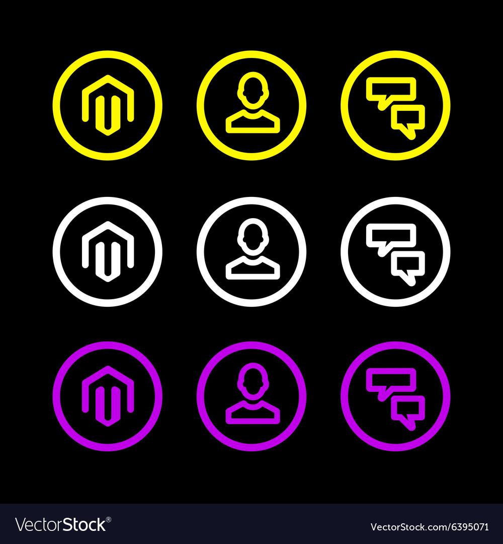 Business icon logo symbol man hour chat flat