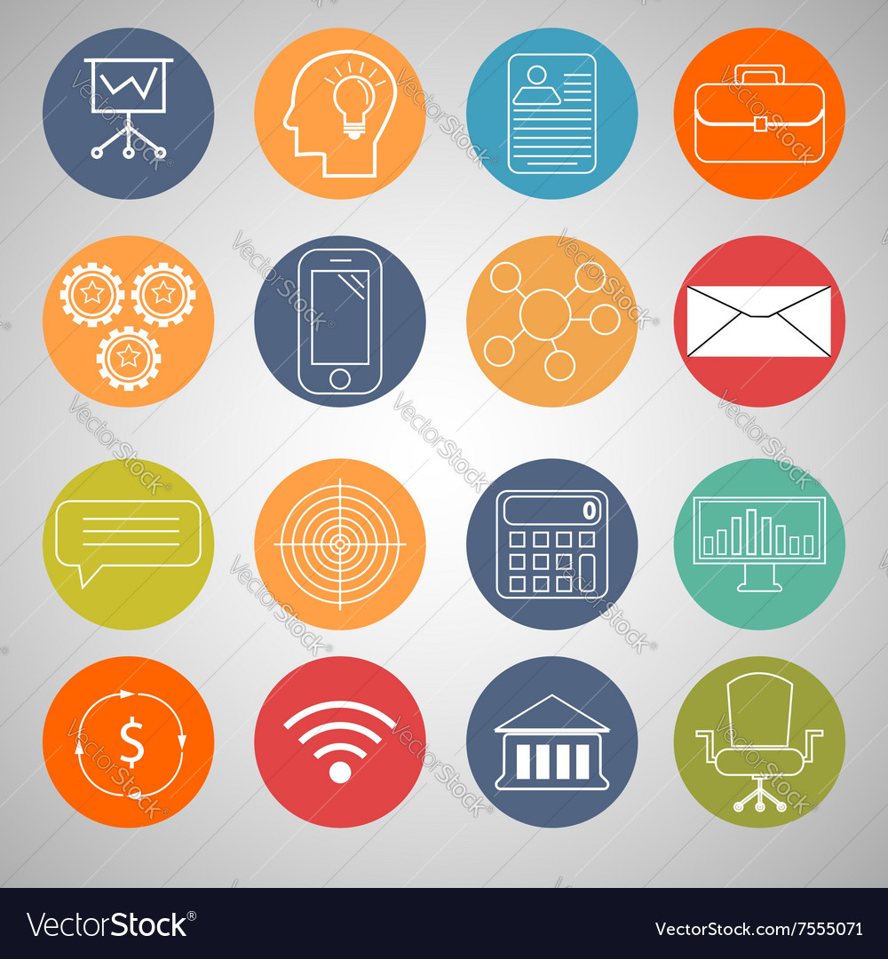 business infographic icons royalty free vector image