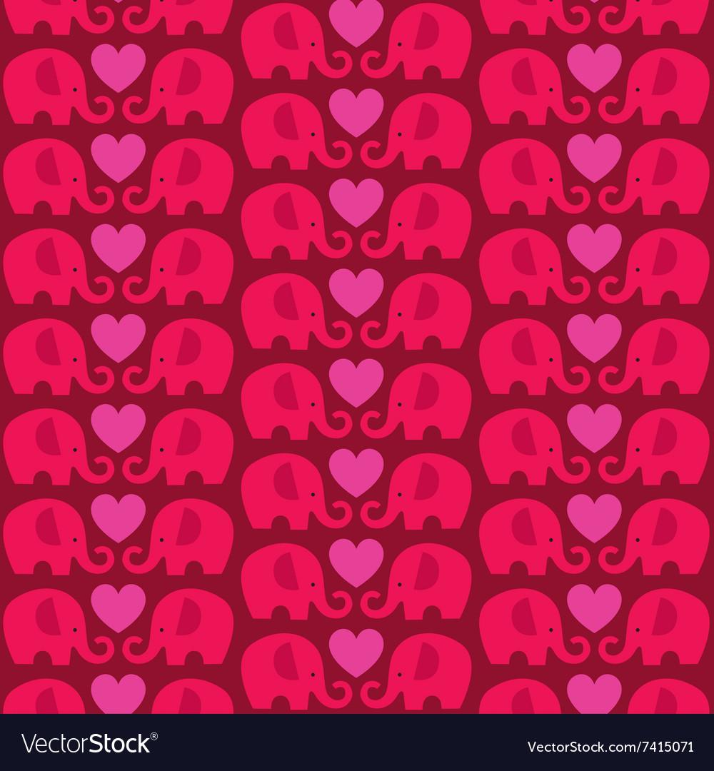 Elephant heart pattern vector image