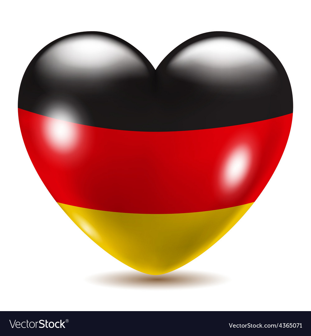Heart shaped icon with flag of Germany