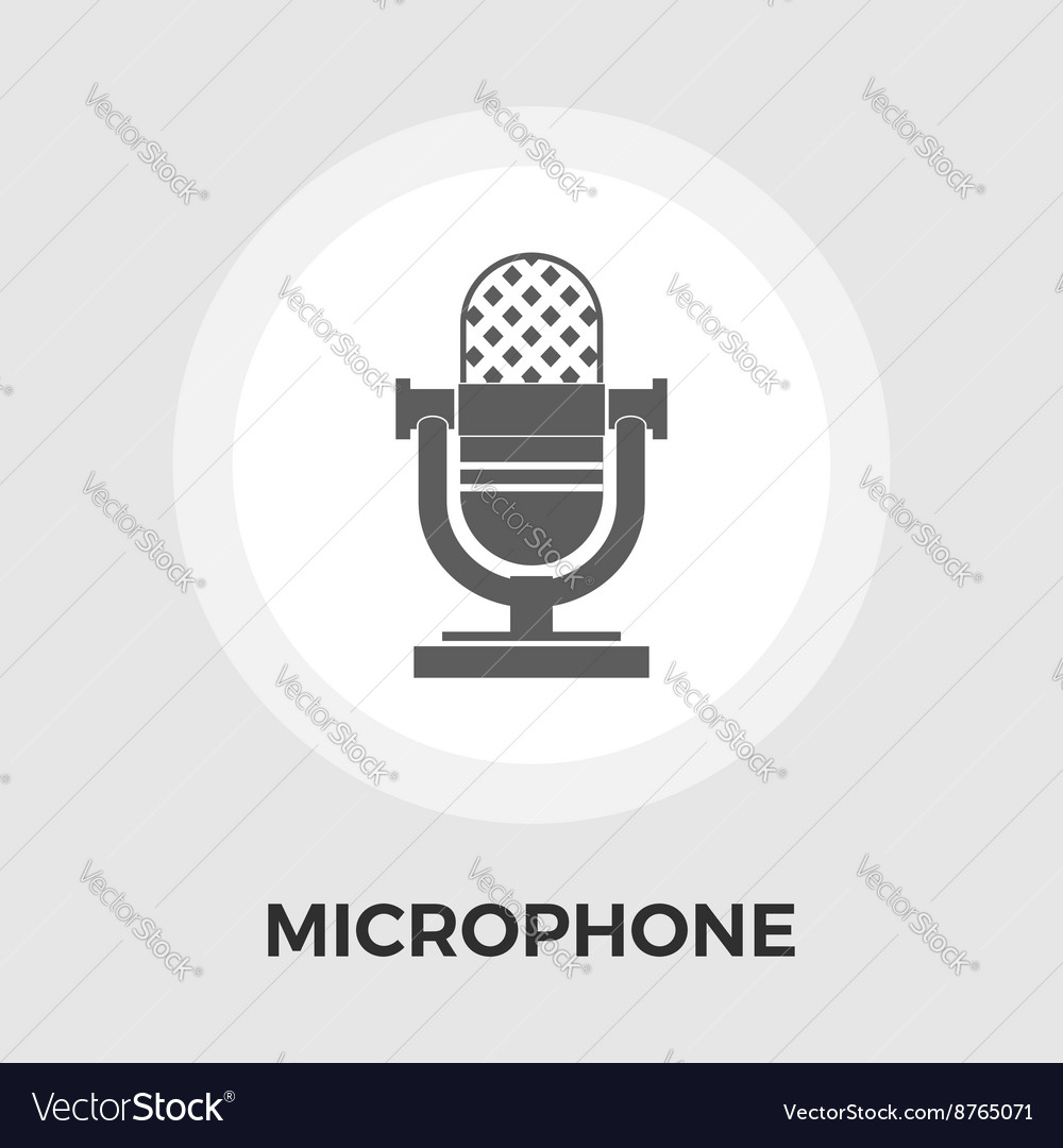 Microphone flat icon vector image