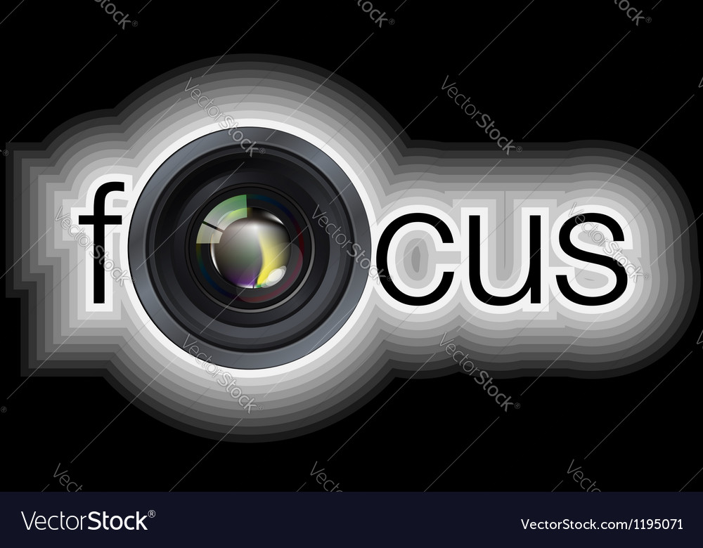 Professional photo lens vector image