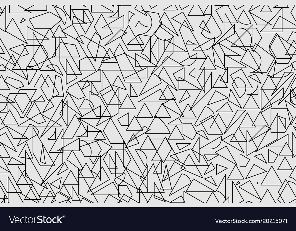 Triangle design elements set vector image
