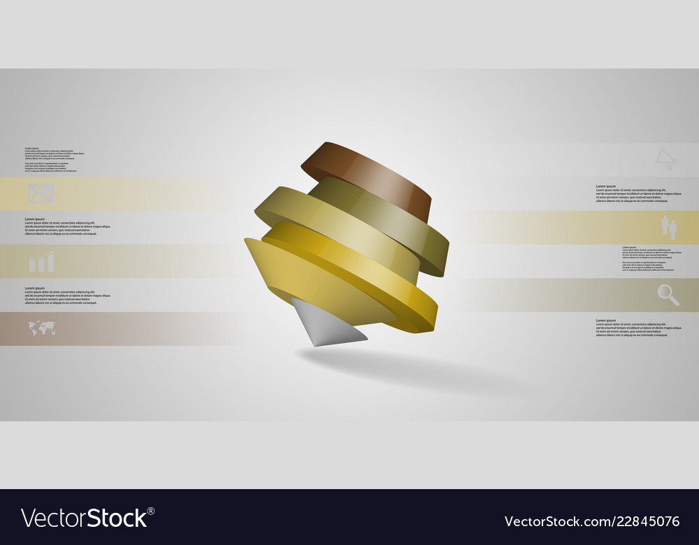 3d infographic template with round