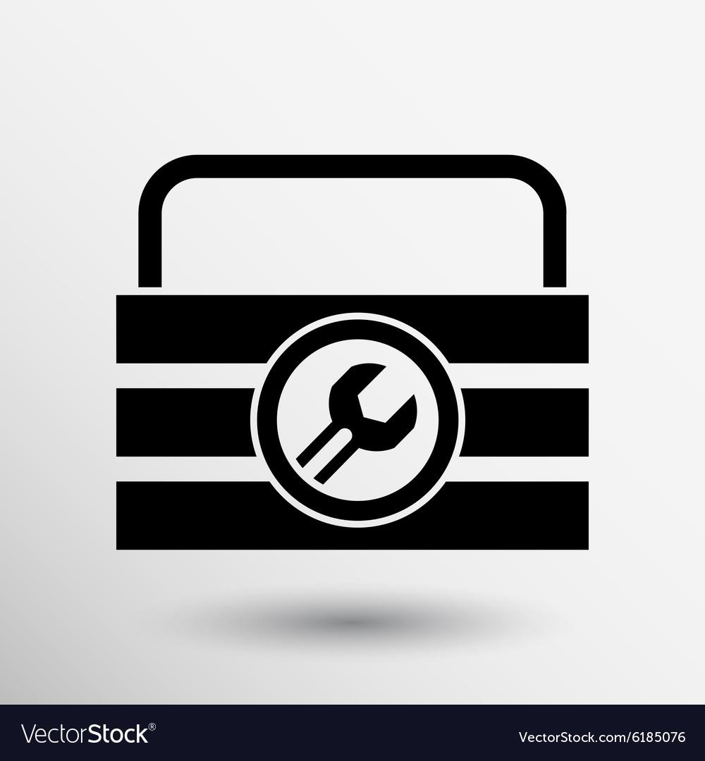 Box of tools icon button logo symbol concept