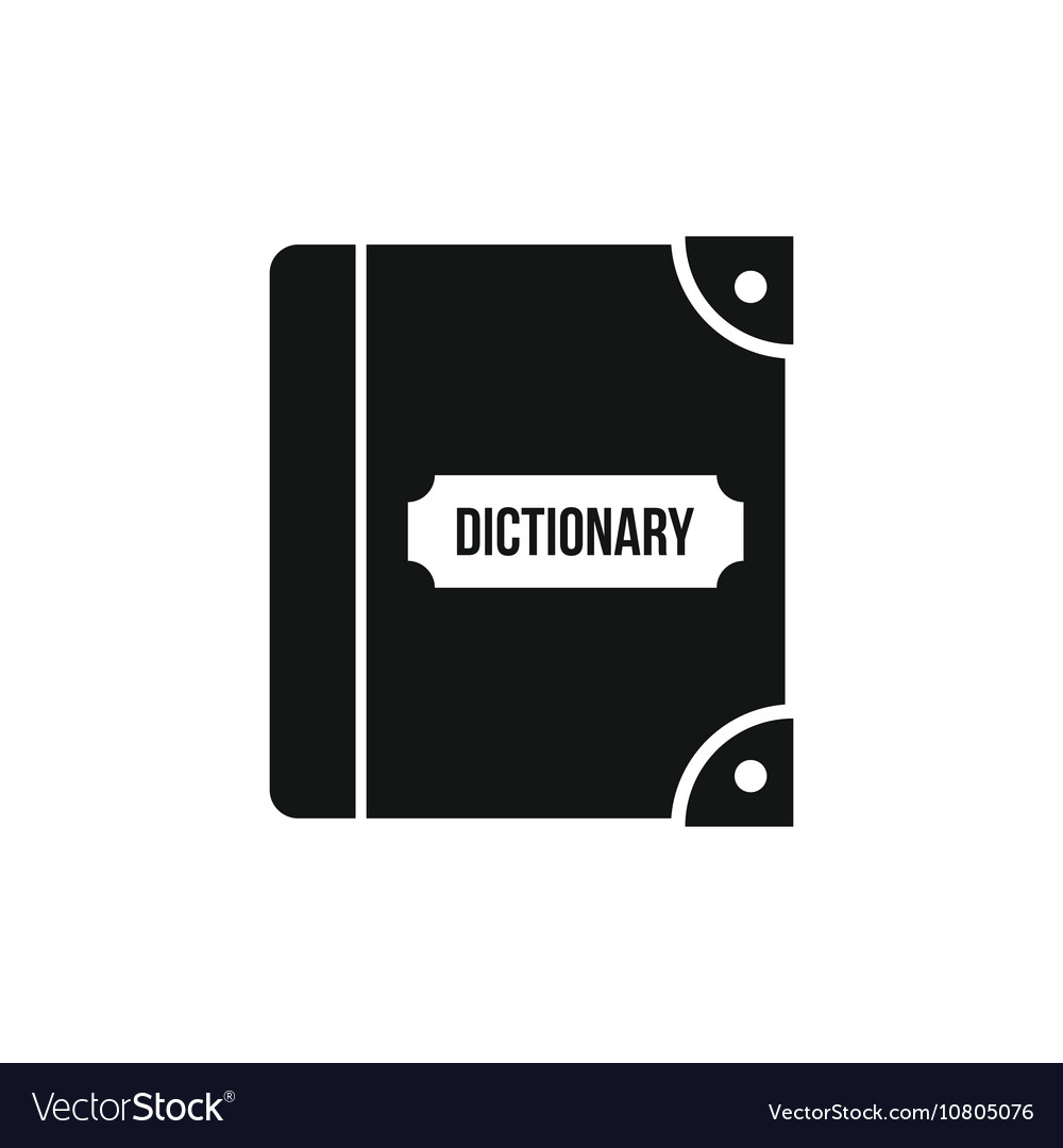 English dictionary icon simple style