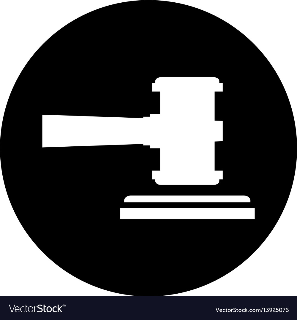 Gavel justice isolated icon