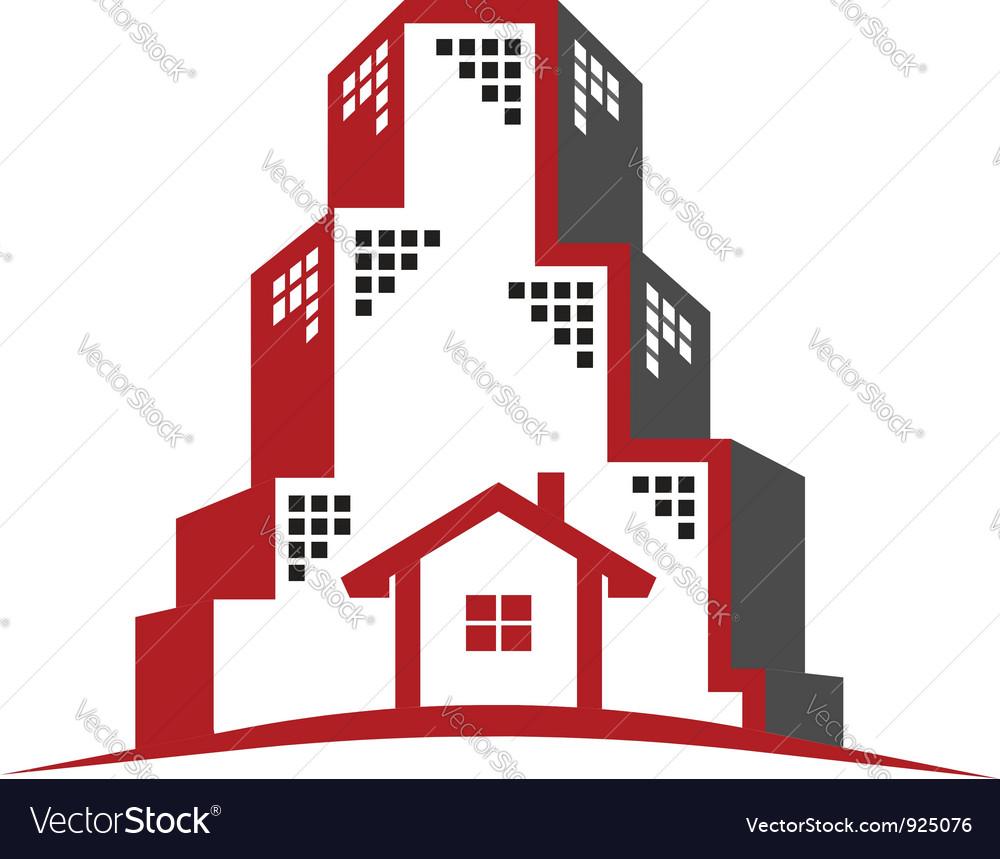 Logo Real Estate concept vector image
