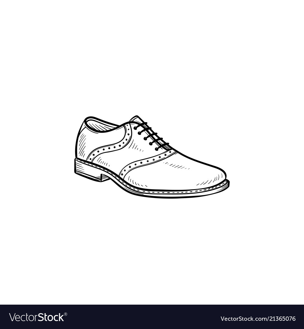 Male shoe hand drawn outline doodle icon