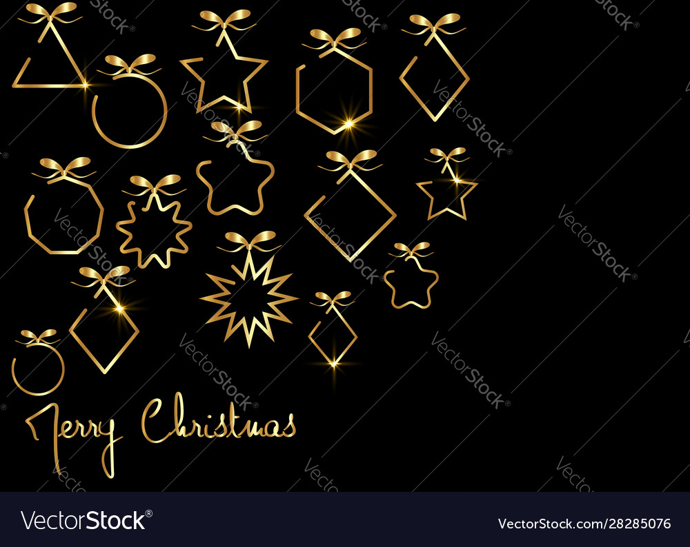 Merry christmas gold banner 2020 happy new year