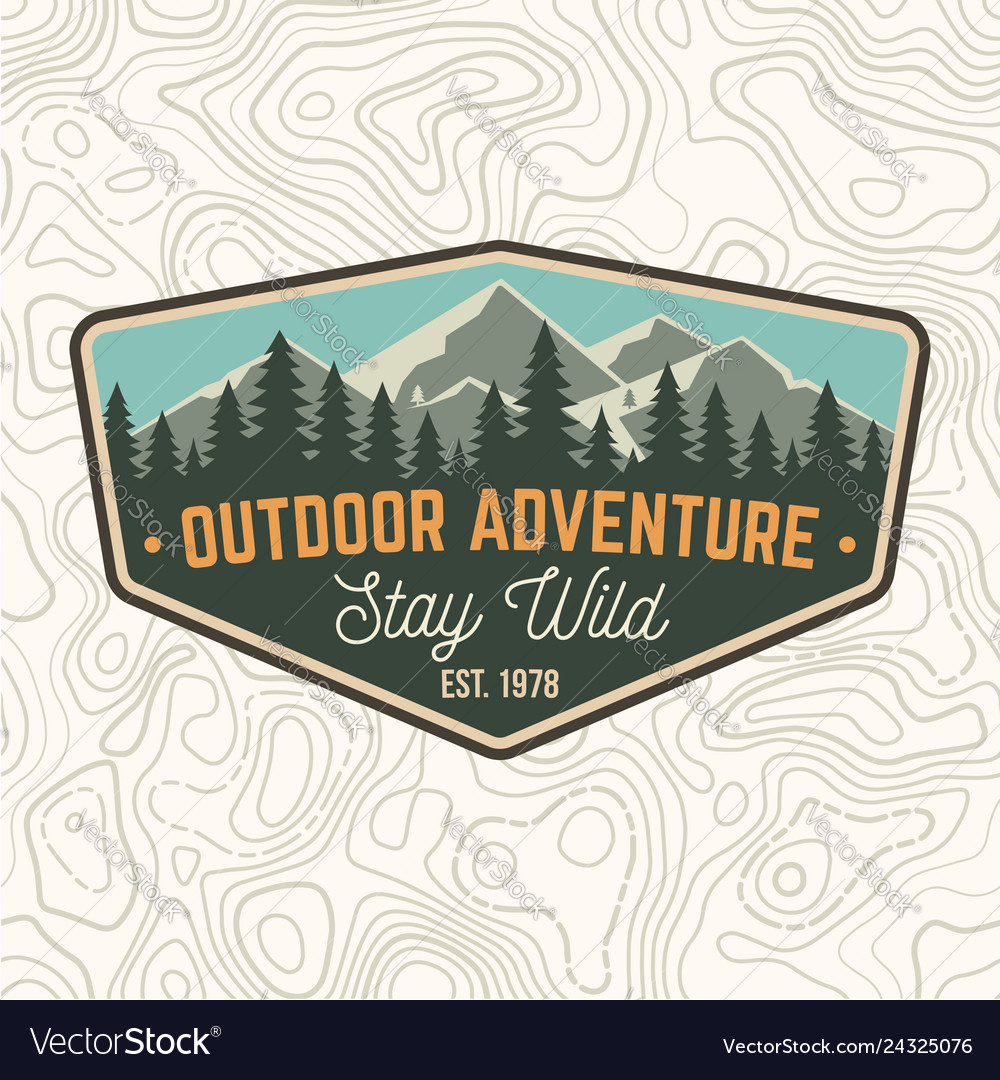 Stay wild outdoor adventure patch
