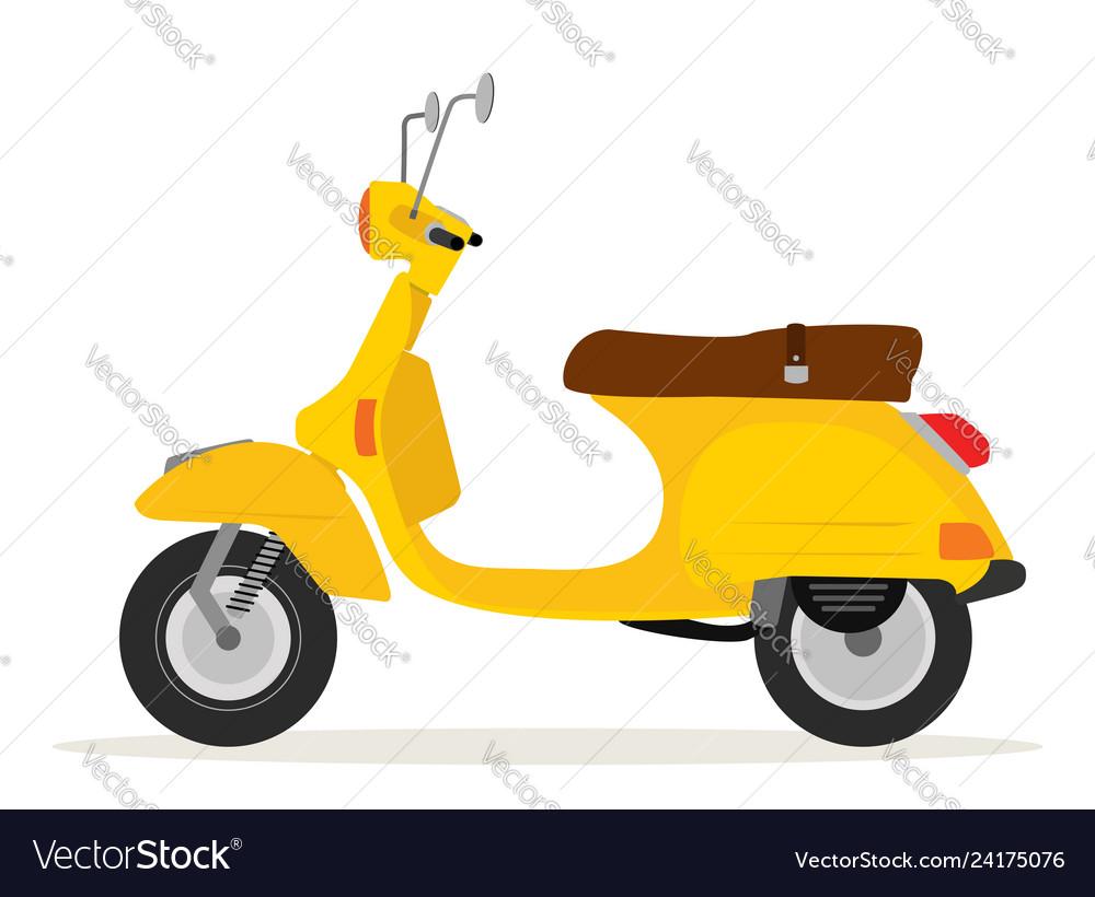 Yellow vintage motorcycle