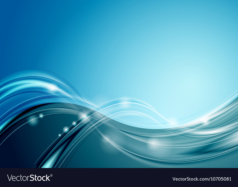 Abstract bright blue wavy background
