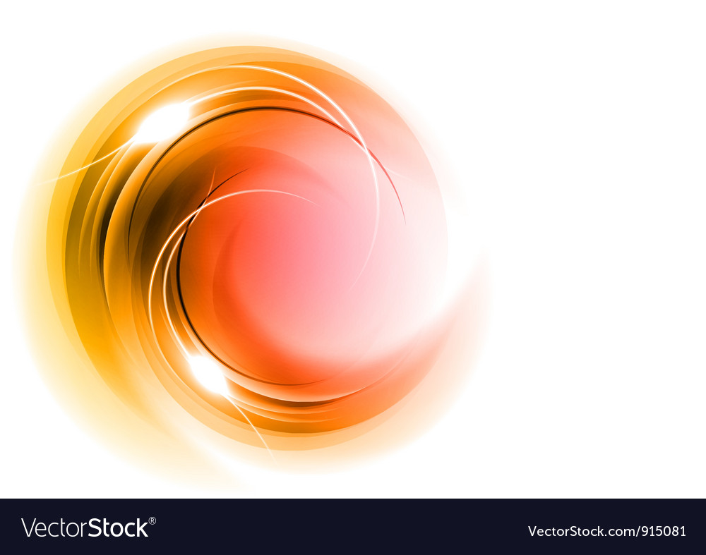 Abstract circle smoke on white red