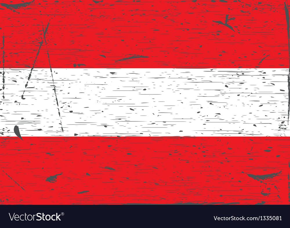 Austria flag grunge