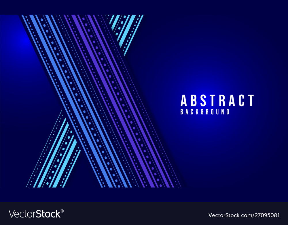 Blue abstract ornamental glowing background