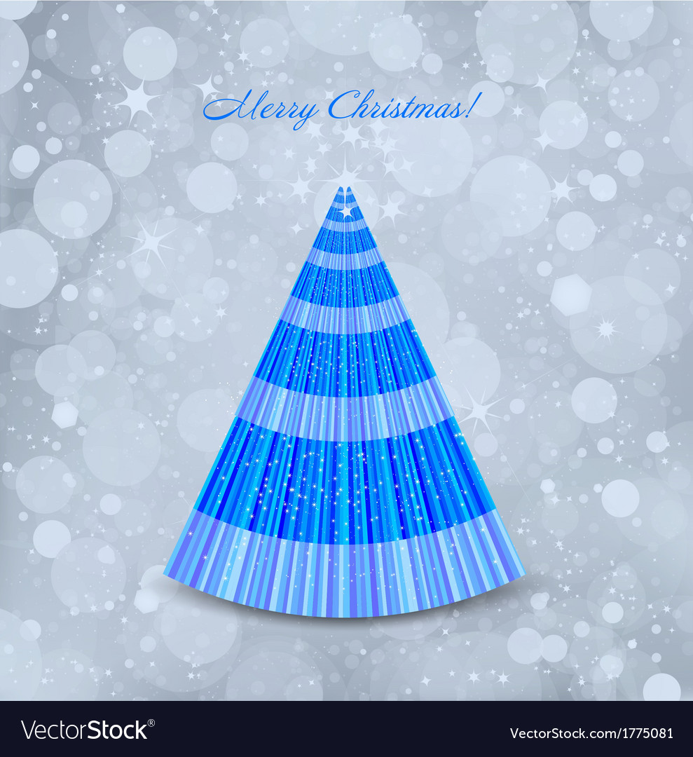 Christmas blue background with tree