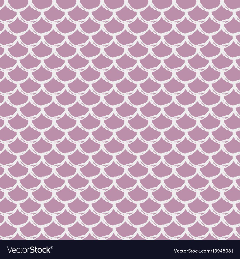Little Mermaid Seamless Pattern