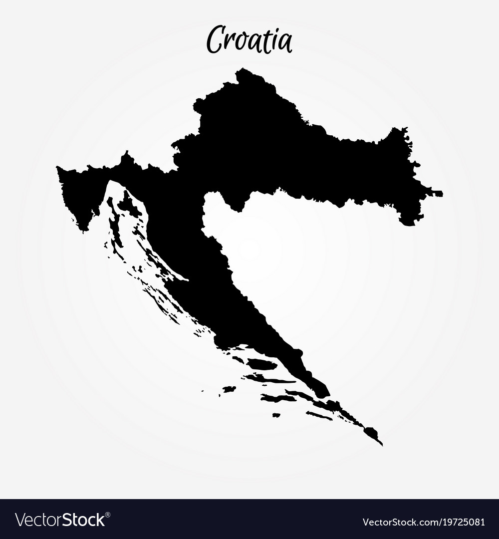 Map of croatia Royalty Free Vector Image - VectorStock