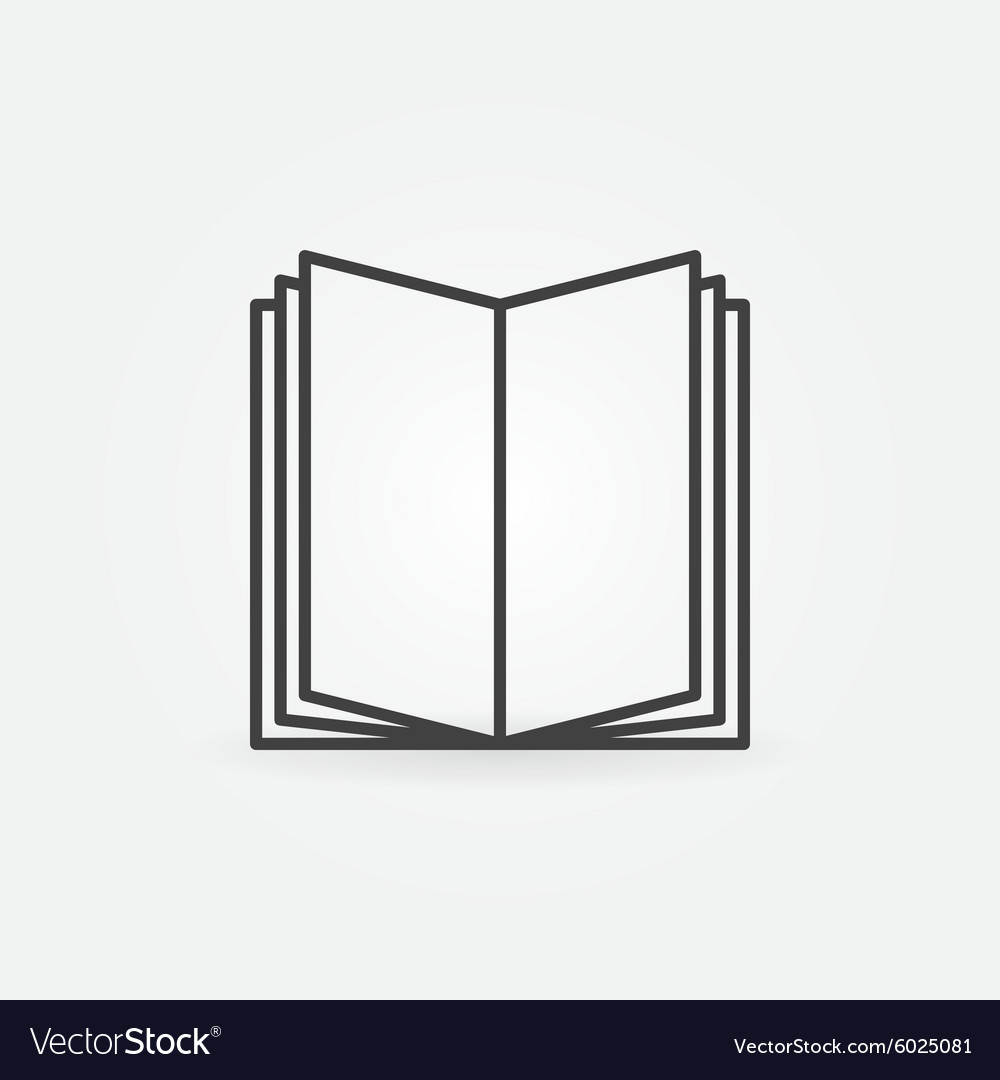 Open book linear icon vector image