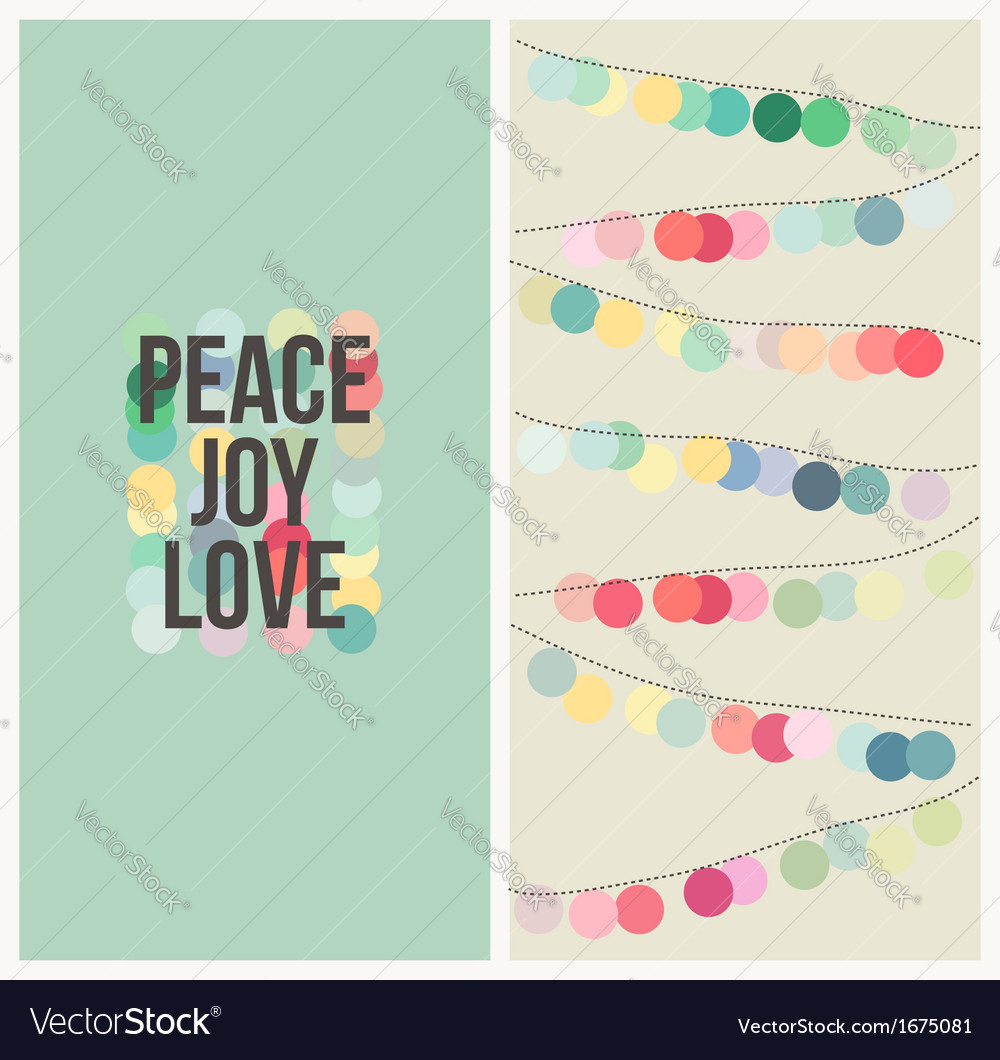 Peace love joy - Multicolored Christmas design