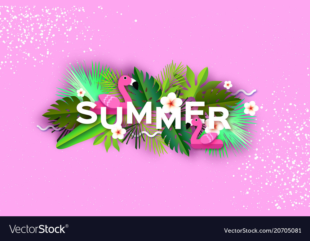 Pink flamingo float tropical summer daysummer