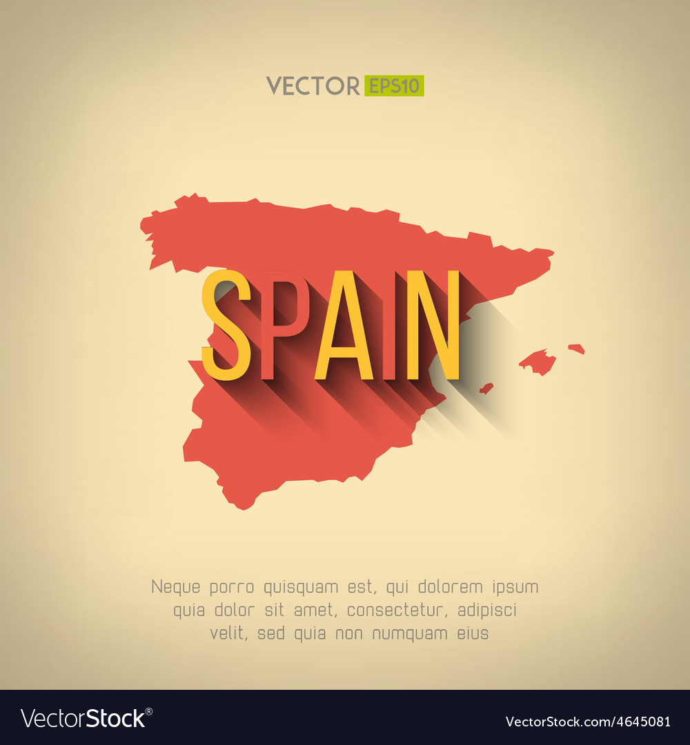Map Of Spain Download Free.Spain Map In Flat Design Spanish Border
