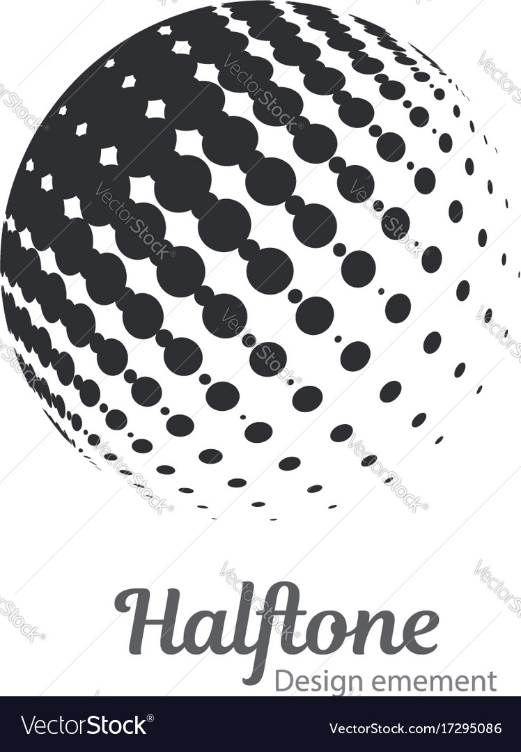 Logo halftone design element