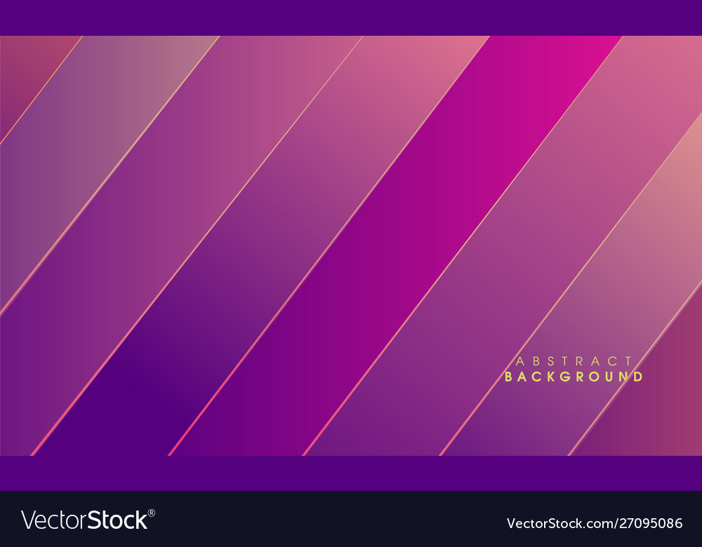 Purple abstract with golden line background