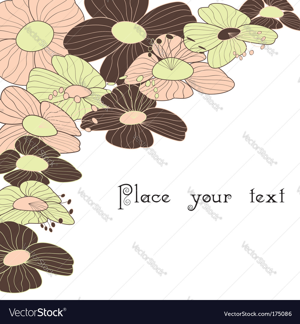 Spring summer floral background