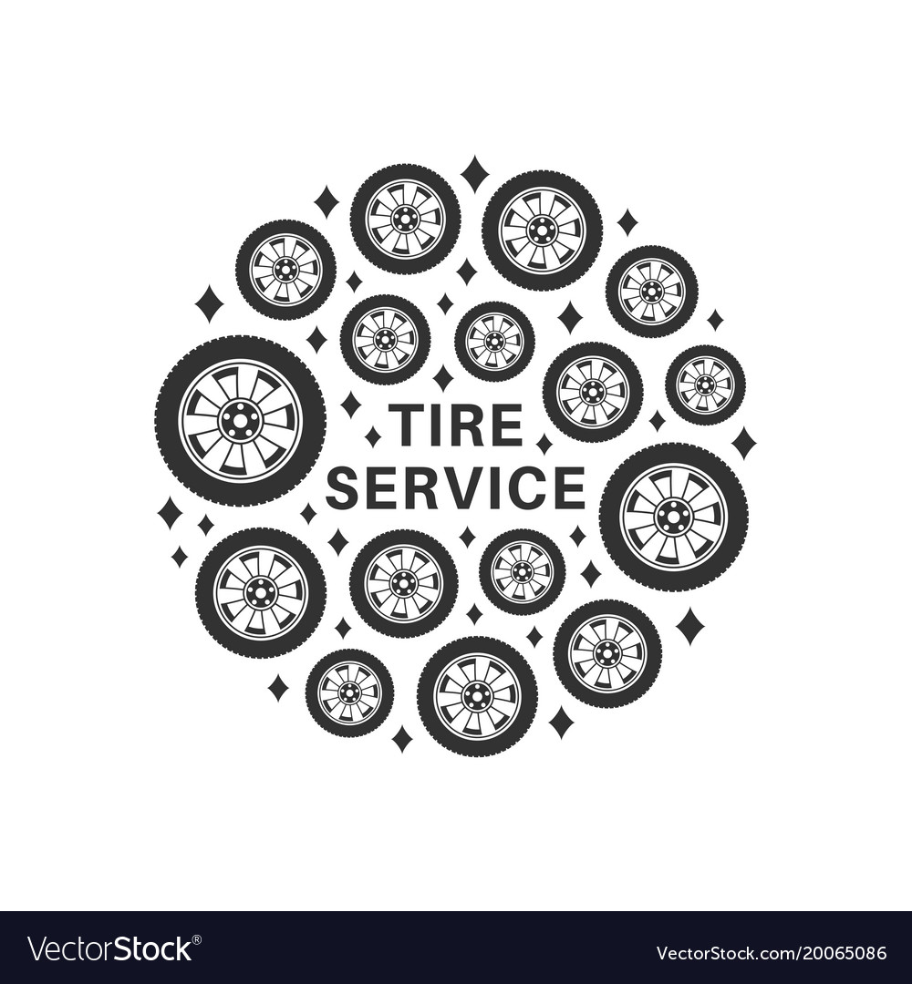 Tire repair service background