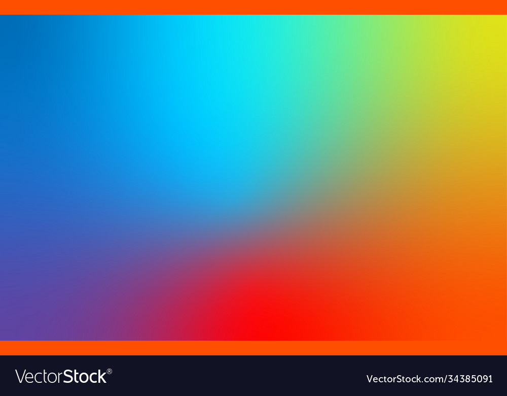Abstract blue red and yellow blur color gradient
