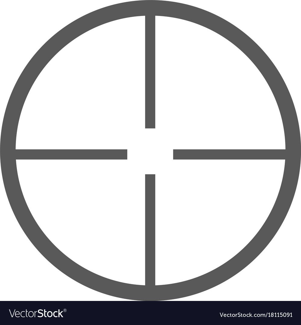 Aim icon simple vector image