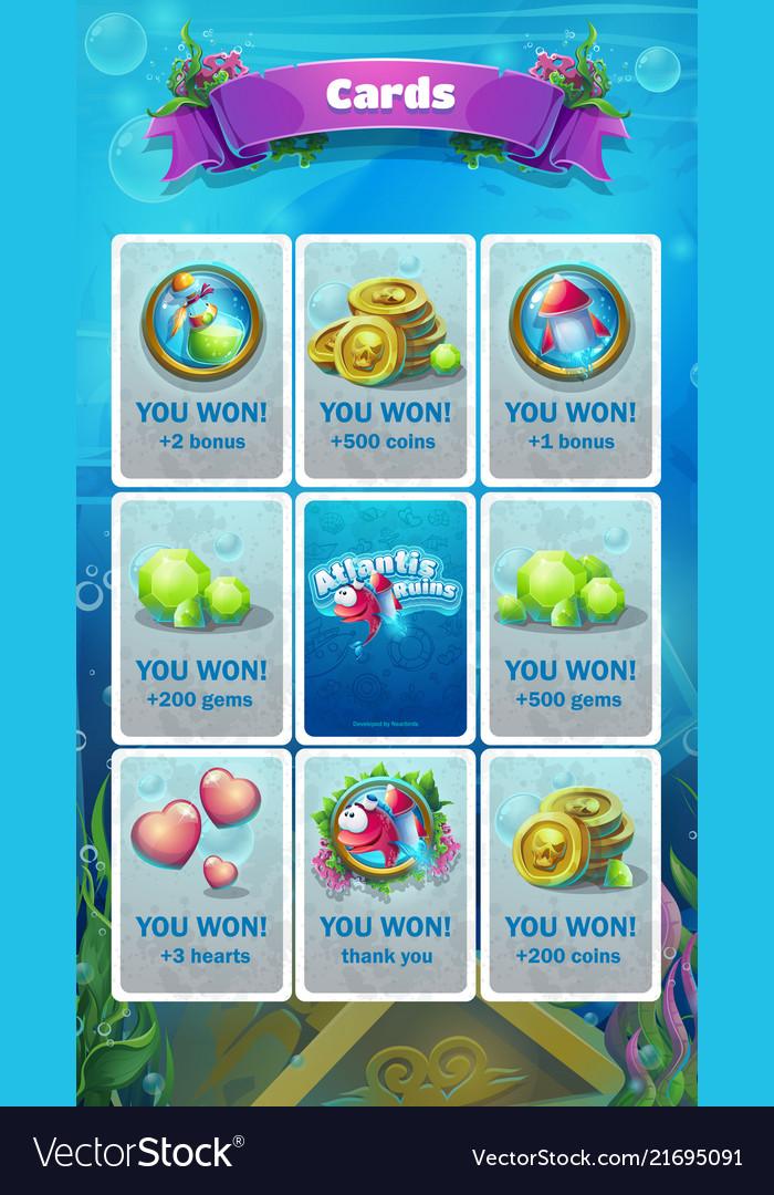 Atlantis ruins - bonus card screen