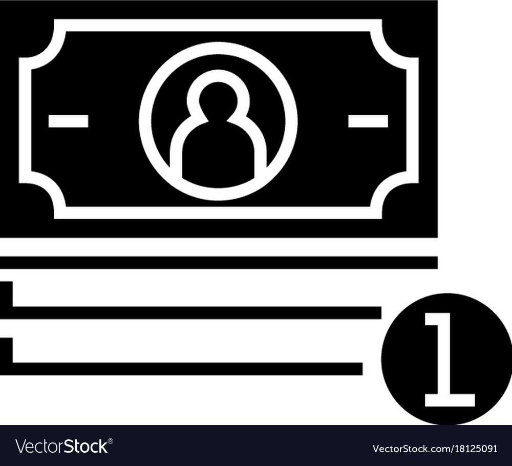 Banknotes cent icon black