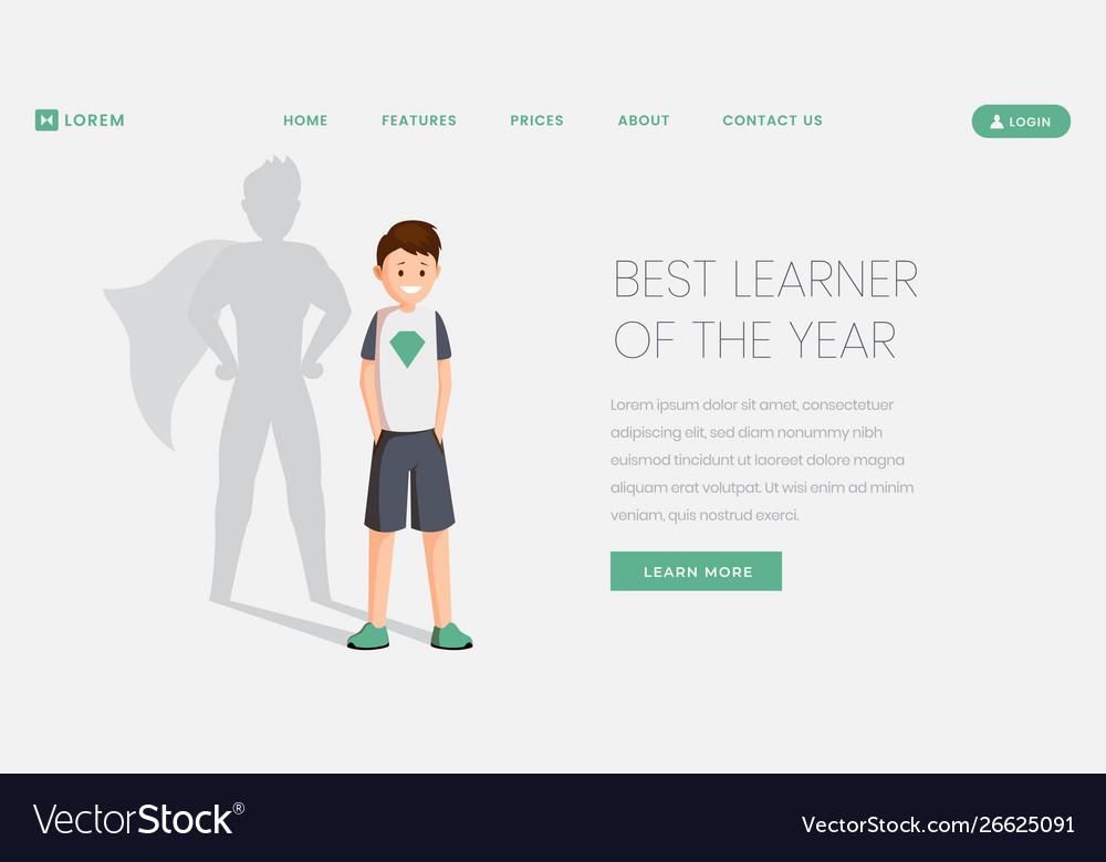 Best learner landing page template best