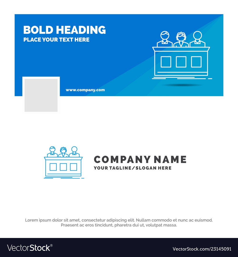 Blue business logo template for competition