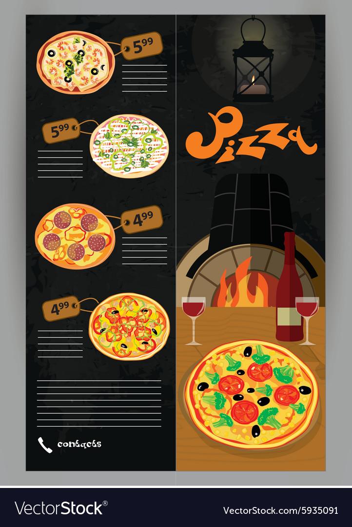 booklet flyer leaflet menu for pizza royalty free vector