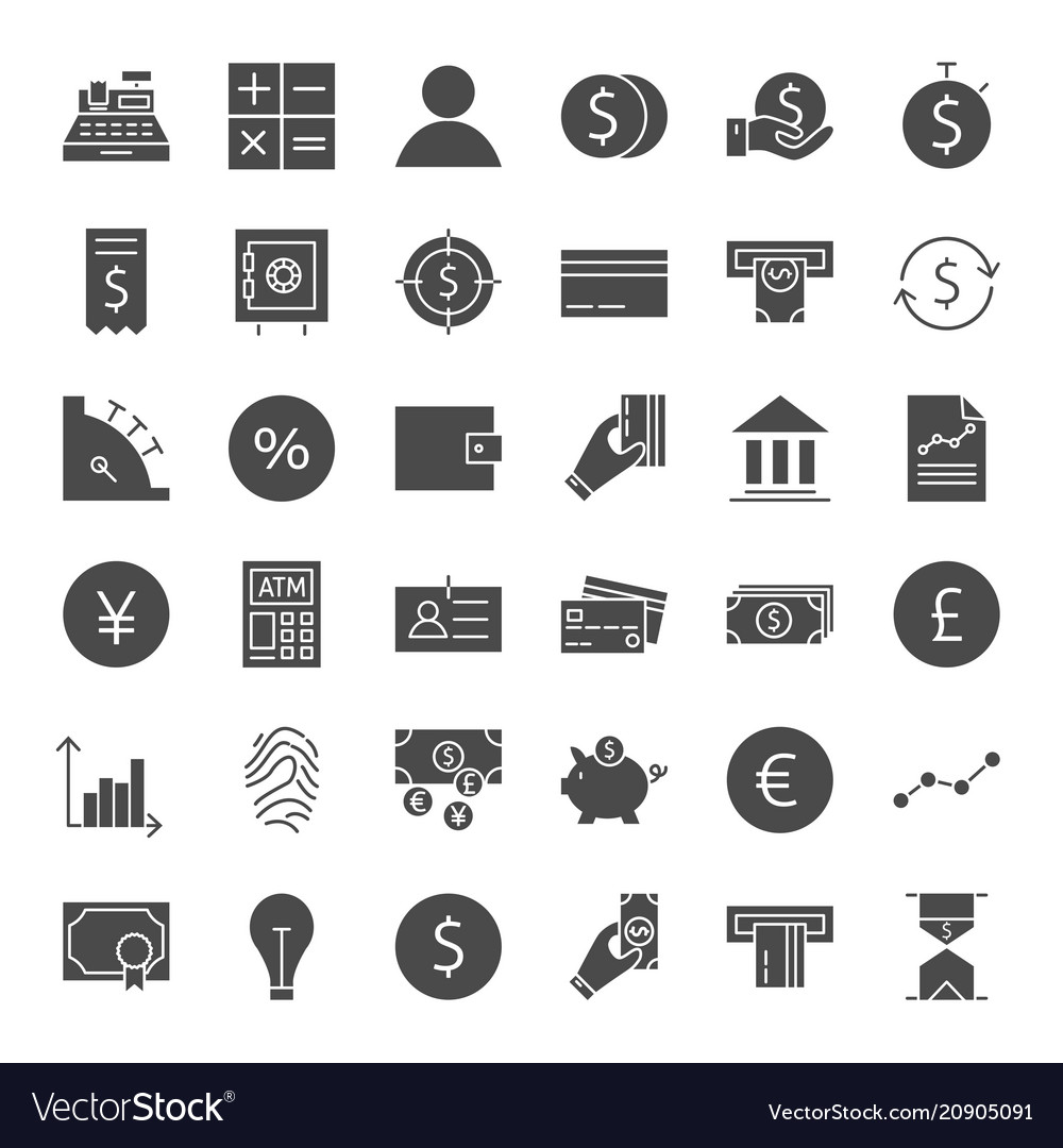 Finance money solid web icons