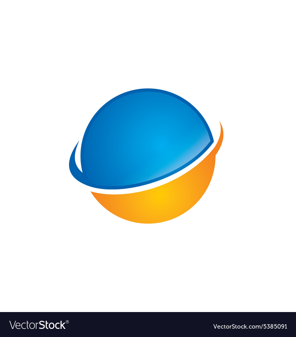 Globe abstract technology logo